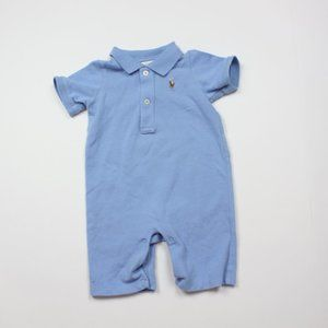 Ralph Lauren Blue Polo Cotton Shortall Sz 9m